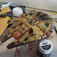 table_top_gun's photo on Instagram Spaceship Design, Spaceship Concept, Paint Themes, Silly Games, Imperial Assault, X Wing Miniatures, Millenium Falcon, Star Wars Ships, Ideas