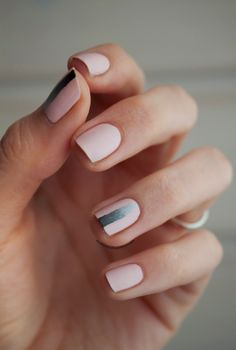 Blush minimalist mani