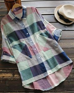 Cute shirt top to get with free shipping Now! This colorful piece with front pockets gonna easy your day with its casual style! Make it yours at Cupshe.com