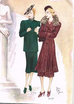 McCall 9403 and 9396 in McCall Fashion News, Autumn 1937