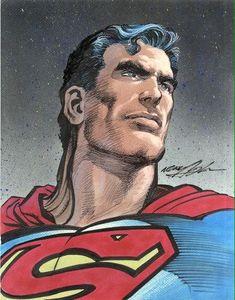 Superman by Neal Adams #NealAdams  #Superman #Clark_Kent #Kal_El #Justice_League #JL #Krypton #ManofSteel #DailyPlanet #Smallville #Metropolis