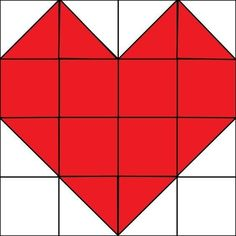 """It's the first Monday of the month which means it's time for our Quilt Block of the Month! This month we are doing a heart quilt block for Valentine's Day. This block was not included on our Quilt Block of the Month Quilt…it is a """"bonus block"""" that can ea Heart Quilt Pattern, Barn Quilt Patterns, Pattern Blocks, Quilting Patterns, Patchwork Quilting, Quilting Tips, Quilting Projects, Machine Quilting, Patchwork Heart"""