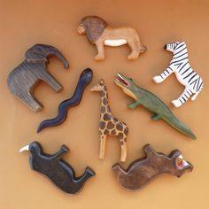 Wooden Animal Toys, Wood Animal, Wood Toys, Forest Animals, Woodland Animals, Pet Toys, Kids Toys, Giraffe, Elephant