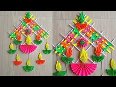 Wall hanging ideas with paper decoration ideas wall hanging decoration paper craft ideas decorations diy wall . Happy Diwali, Diwali Diy, Diwali Craft, Diy Diwali Cards, Handmade Diwali Greeting Cards, Diy And Crafts Sewing, Crafts For Kids, Arts And Crafts, Diy Crafts