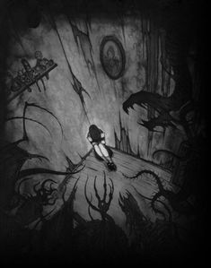 She is growing ever darker, and in a world that seems to offer no help, light, or love she feels abandoned as the darkness chips away at what little protection she has left.