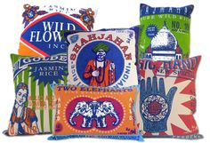 Vintage indian ads inspired cushions: Vintage indian ads inspired cushions
