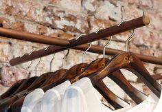 Cylk Retail Store Design - Tarnished Brass Fixture Retail Store Design, Design Awards, Clothes Hanger, Victorian, Brass, Detail, Inspiration, Shopping, Street