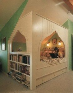 built in cozy bed nook with storage Dream Rooms, Dream Bedroom, Home Bedroom, Kids Bedroom, Bedrooms, Kids Rooms, Bedroom Ideas, Design Bedroom, Bedroom Decor