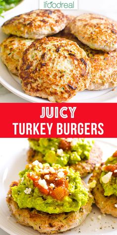 burger recipes Healthy Turkey Burgers with 5 simple ingredients. 3 easy steps and dinner is ready. Theyre low fat and gluten free. And one secret ingredient holds it all together and makes for more healthy, juicy and flavourful turkey burger recipe. Healthy Turkey Recipes, Turkey Burger Recipes, Healthy Family Meals, Ground Turkey Recipes, Healthy Meal Prep, Family Recipes, Healthy Low Fat Meals, Eating Healthy, Healthy Snacks