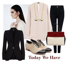 """Today We Have"" by kotynska-zielinska ❤ liked on Polyvore featuring Joseph, Argento Vivo, Alexander McQueen, Pink Tartan, Liam Fahy and Sandro"