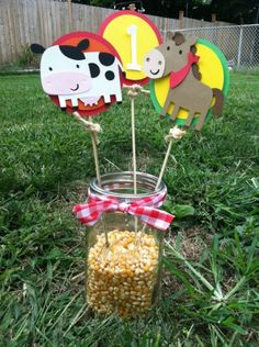 Farm/Barnyard Centerpieces | Party