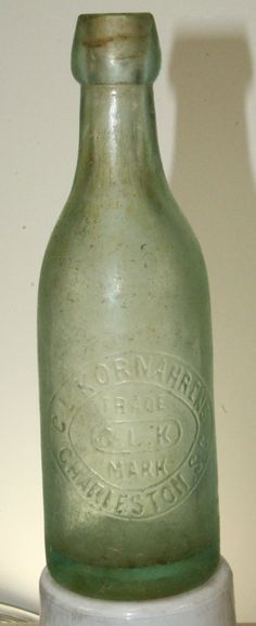 Charleston SC C L Kornahrens Blob Top Soda Bottle | eBay