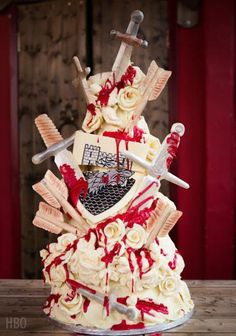 Choccywoccydoodah's Red Wedding cake for Game of Thrones