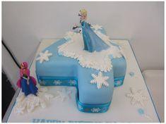 Elsa Birthday Cake, Little Girl Birthday Cakes, Number Birthday Cakes, 3rd Birthday, Birthday Celebration, Birthday Ideas, Frozen Theme Party, Frozen Birthday Party, Number 4 Cake