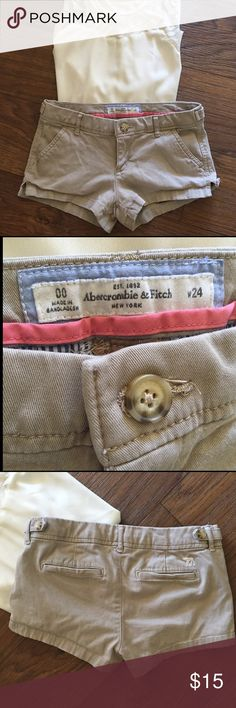 Tan Abercrombie & Fitch Shorts Used, in good condition with NO noticed flaws.         (Also selling this in white, look into my closet for the separate listing!) bundle for a discount!                  I will always consider ALL reasonable offers!  Abercrombie & Fitch Shorts Cargos