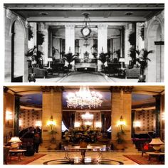 Then & Now, our untouched and historic Hotel Lobby! #RooseveltNYC