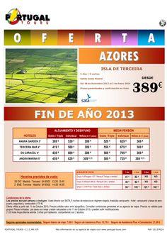 AZORES Fin de Año 2013 Isla Terceira salidas desde Madrid a partir de 389 € - http://zocotours.com/azores-fin-de-ano-2013-isla-terceira-salidas-desde-madrid-a-partir-de-389-e/
