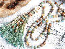wunderschön & edel ✿ Boho ✿ Bettelkette ✿ Pastell