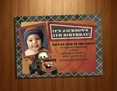 mater birthday invitation