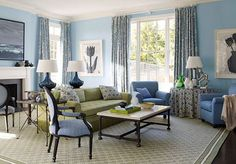 Inspiring Sharp French Style Living Room Inspiration With Blue Color