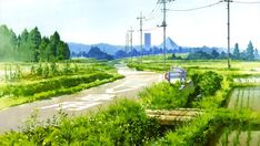 Find images and videos about anime and green on We Heart It - the app to get lost in what you love. Landscape Background, Animation Background, Art Background, Fantasy Landscape, Landscape Art, Japanese Countryside, Anime Places, Anime Scenery Wallpaper, Hayao Miyazaki