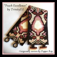BP-PEY-081-2015-132  Peach Excellence  Peyote Pattern por TrinityDJ