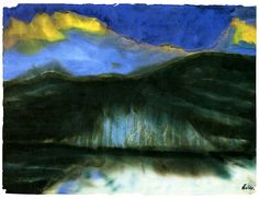 Emil Nolde - Mountain Lake