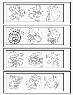 Library Bookmarks to Color Free Printable Bookmarks, Corner Bookmarks, Bookmarks Kids, Free Adult Coloring, Coloring For Kids, Insect Crafts, Book Markers, Bullet Journal Art, Printable Designs