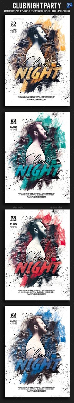 Club Night Party Flyer Template PSD