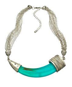 Blu Bijoux Tribal Horn Necklace