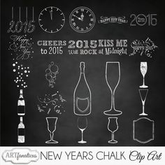 """Happy New Years Holiday Clipart """"NEW YEARS CHALK"""" chalk bottles, chalkboard, celebration, overlays, champagne, photographers, scrapbookers Kitchen Chalkboard, Chalkboard Art, Happy New Year Signs, New Year Art, New Art, Bottle Images, Chalk Wall, Chalk Board, New Year Holidays"""