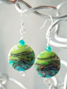 Spring Fountain Earrings    -SOLD-