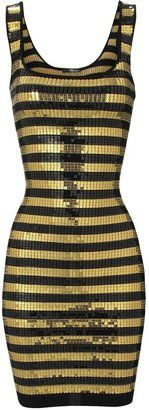 ShopStyle: All over Sequin Stripe Body Con Dress