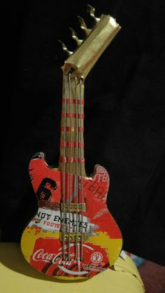 Recycled Coca Cola Guitar