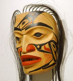 """The Guardian"" Portrait Mask by Arlene E. Ness, Gitxsan artist (X80604)"