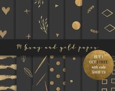 Purple and gold digital paper Gold Paper, Pink Paper, Paper Art, Paper Crafts, Grey And Gold, Gray, Paper Light, Craft Free, Digital Scrapbook Paper