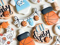 Shower Set, Baby Shower, Tar Heels, Sugar Cookies, Baby Boy, Palette, Orange, Illustration, Fun