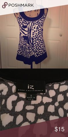 Sleeveless top Black and white print sleeveless top Iz beyer california Tops Blouses