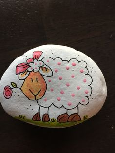 Ewe Rock Painting. Cute!