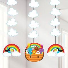 Noah's Ark Baby Shower Party Hanging Cutouts (92cm)