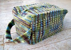 Cuboid Felted Box Bag by Sarah Wilson (knit)