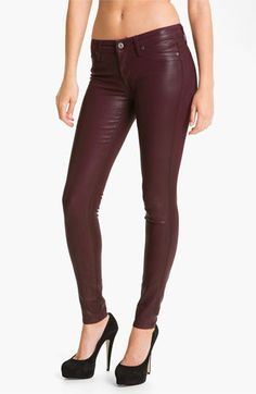 Rich & Skinny 'Legacy Leather' Faux Leather Skinny Jeans (Oxblood) available at #Nordstrom