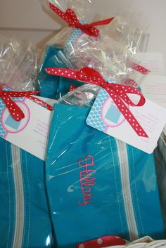 Spa party favors