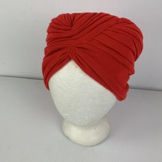 Red minishop659 Winter Lady Wool Vintage Flower Church Hat