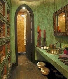 baño estilo marroquí