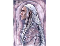 Original painting  The King of the elves grey by JankaLart on Etsy