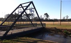 "You have to use the shortest suspension bridge in the world to cross ""Beautiful Eagle Creek"" to get to Georgia Southern's practice fields!"