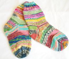 My super cute UPCYCLED KRAZY socks using my leftover sock yarn! How many more socks will this take?