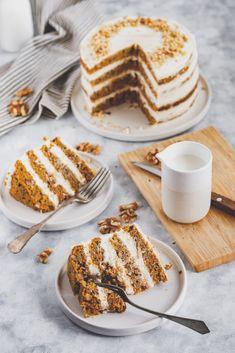 diós répatorta tökéletes cukormentes krémmel Waffles, Low Carb, Gluten, Sugar, Snacks, Breakfast, Healthy, Ethnic Recipes, Food