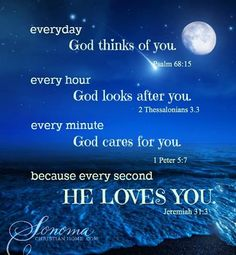 Every day, every hour, every minute, every second..... #God loves you! http://www.roanokemyhomesweethome.com